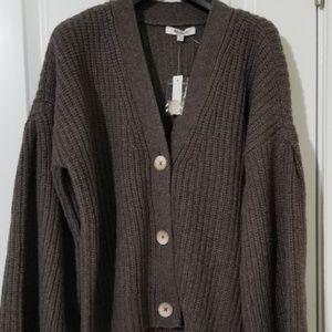 Madewell Wide Sleeve Crop Cradigan Sweater XXS NWT